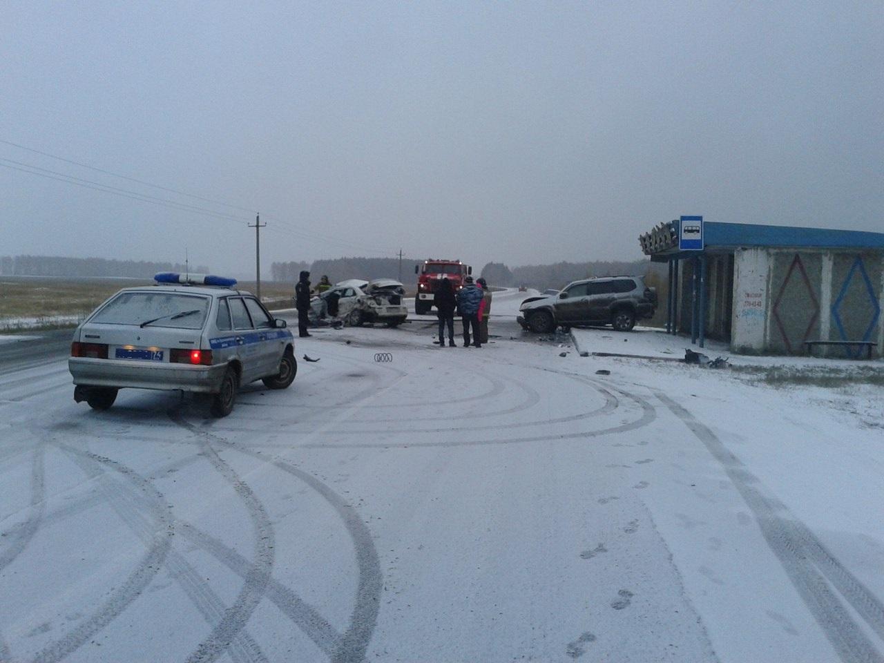 ВДТП стремя машинами вКрасноармейском районе погибли 2 человека