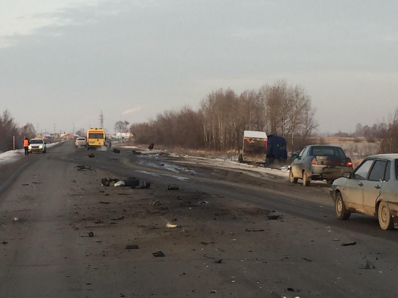 При ДТП с грузовым автомобилем вЧелябинской области пострадал человек